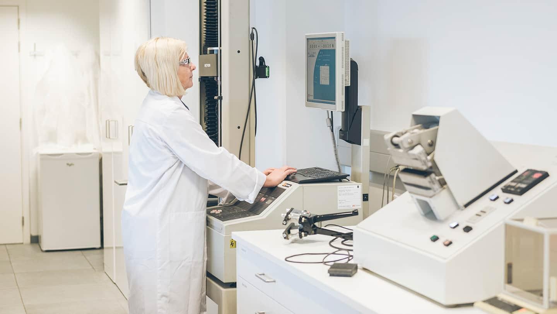 Eind jaren tachtig startte Elsje mee het labo op.